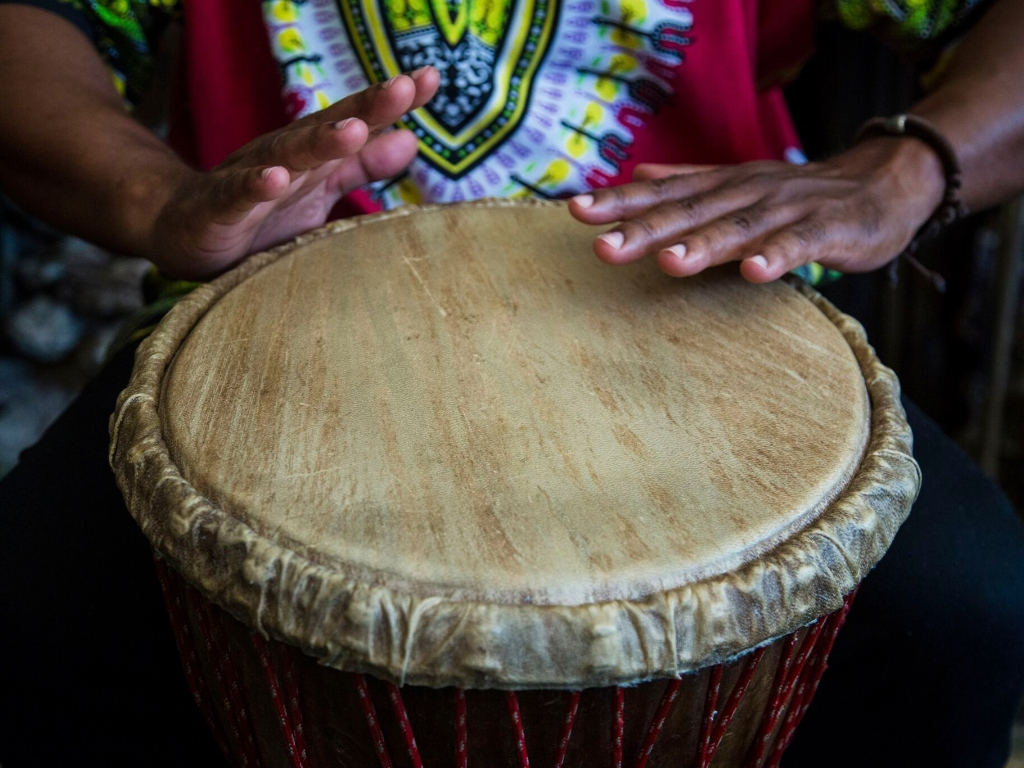 a person drumming